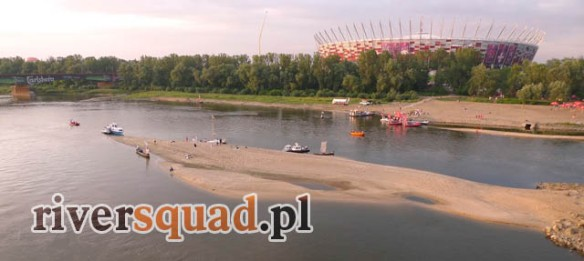 Spływ można kontynuować także na warszawskim odcinku rzeki